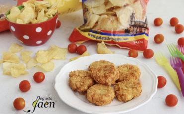 """Receta de """"Nugget"""" crujientes de pescado y patatas Oya"""